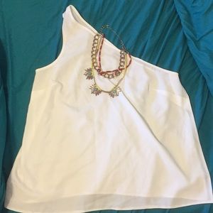 🎉Make an Offer🎉White ASOS One Shoulder Top